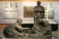 革命烈士在狱中雕像