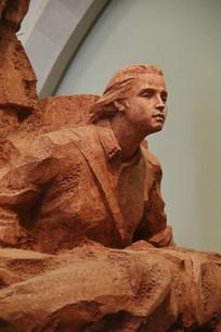 女女红军战士雕像