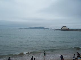 青岛金沙滩海边