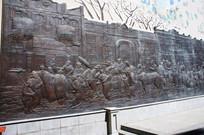 哈尔滨老道外铜浮雕