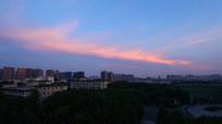 中南民族大学的晚霞