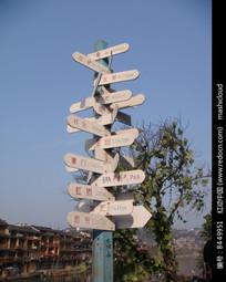 凤凰古城风景指示牌