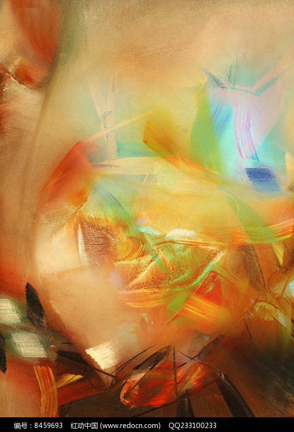 玄关壁画抽象油画背景墙图片
