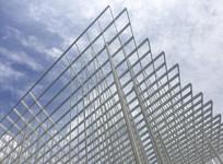 博物馆外景网状建筑