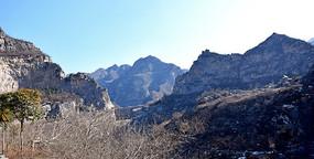 冬季的群山摄影图