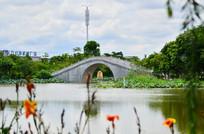湖泊公园小桥建筑图片