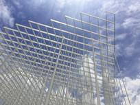 苏州丝绸博物馆外景网状建筑