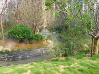 小区里的人工河景观
