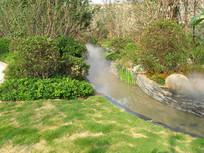 园林人工河景观