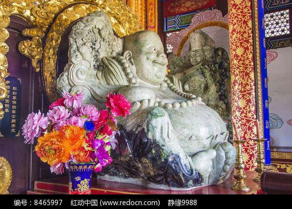玉佛寺弥勒佛玉石雕塑图片