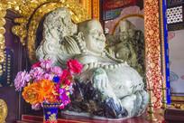 玉佛寺弥勒佛玉石雕塑