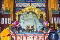 玉佛寺天王殿弥勒佛玉石雕塑