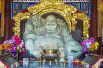 玉佛寺天王殿弥勒佛玉石雕像
