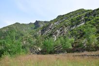 初夏的山脉风景图