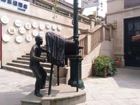 景区老摄影雕像