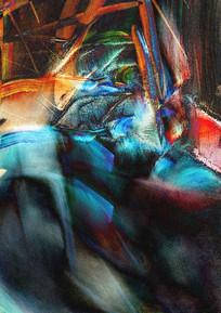 现代抽象油画艺术装饰画