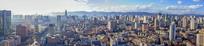 云南昆明市城市全景摄影图