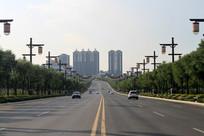 高楼建筑物道路公路
