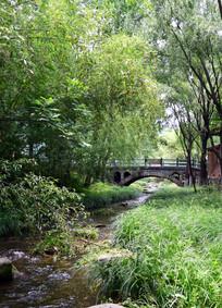 小桥流水风景图