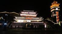 从马路上看时光贵州景区夜景
