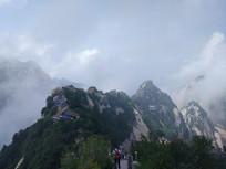 华山北峰图片