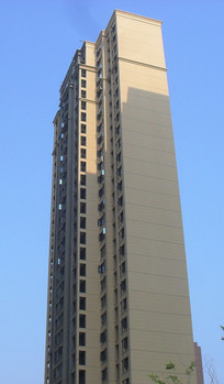 蓝天背景高楼建筑图片
