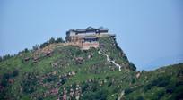 山顶古寺庙建筑摄影
