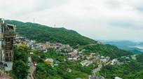 台湾九份山城的建筑