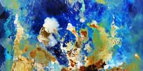 现代抽象画 水墨壁画
