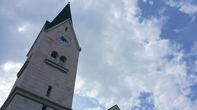 博罗哈施塔特的教堂钟楼
