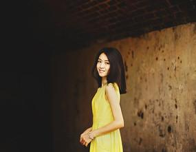 黄裙写真特写