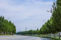 湾湾的公路与蓝天白云