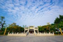惠州丰湖书院正门牌坊全景