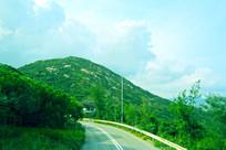 香港石澳渔村山峰山脉