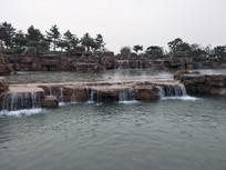 山石瀑布景观