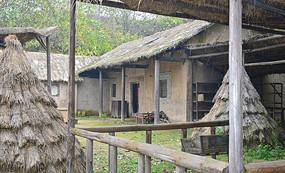 茅草屋旧院落景观