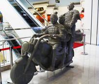 陶俑骑士雕像