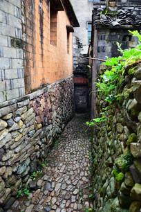 乡村的石头小巷景观
