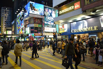 香港尖沙咀街头夜景
