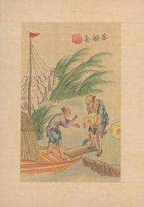 茶景全图 落船图