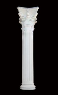 一根纯色背景罗马柱