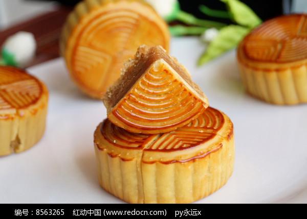 浓情中秋月饼图片