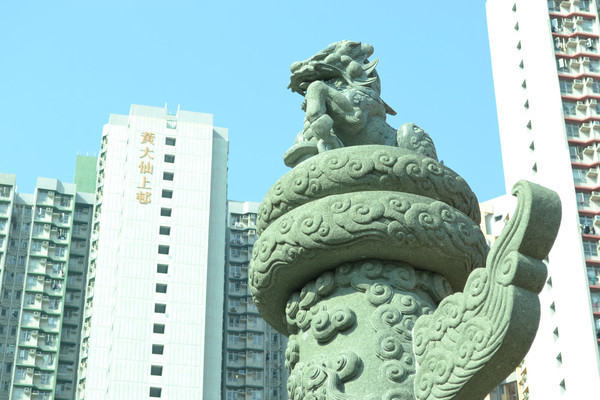 香港黄大仙上邨与华表