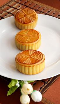 中秋节月饼摄影图片