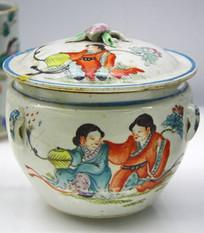 彩绘瓷罐老物件图片