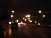 马路上的光影