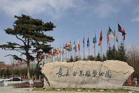 长春国际雕塑园和青松