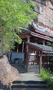 古寺庙建筑摄影图