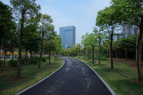 惠州金山湖公园的人行道