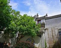白墙青瓦徽派建筑摄影